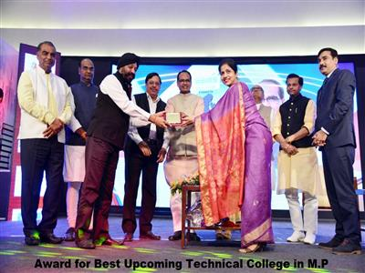 Awarded for Best Upcoming Technical College in M.P.
