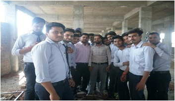 Site visit for civil engineering students.